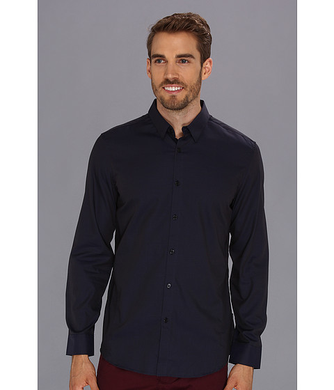 Camasi Calvin Klein - End On End Twill Fancy HBD L/S Shirt - Blue Depths