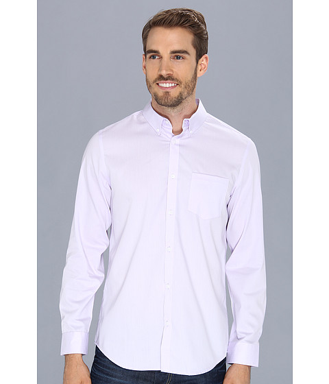 Camasi Calvin Klein - YD Chambray Stripe Dobby L/S Shirt - Wisteria