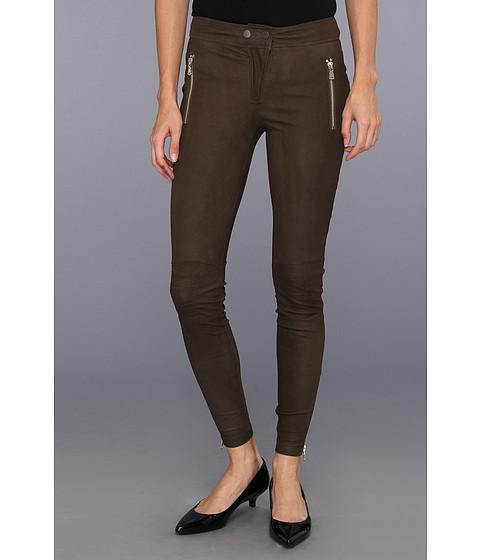 Pantaloni Rebecca Taylor - Leather Moto Pant - Olive