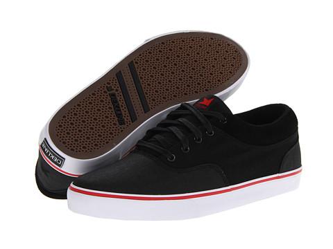 Poza Adidasi Dekline - Keaton - Black/Red/White Suede/Rubber CVS