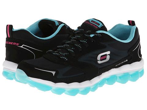Adidasi SKECHERS - Skech-Air - Black/Light Blue