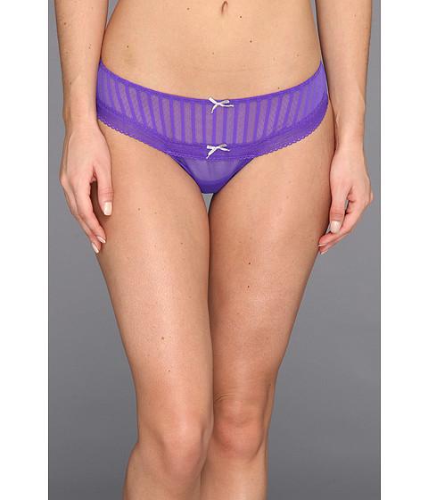 Lenjerie Betsey Johnson - Stocking Stripe Wide Side Thong 722601 - Purple