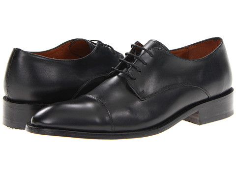 Pantofi Fitzwell - Thomas Cap Toe - Black Leather
