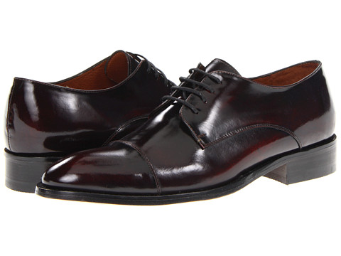 Pantofi Fitzwell - Thomas Cap Toe - Burgundy Leather