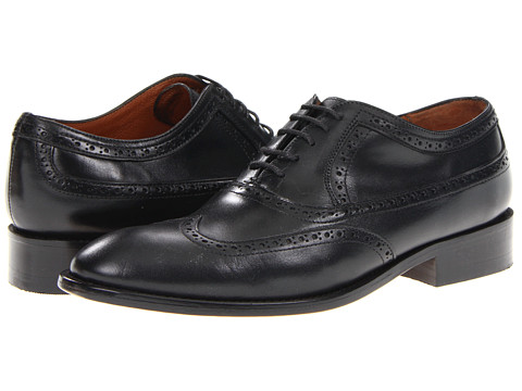 Pantofi Fitzwell - Washington Wing Tip - Black Leather