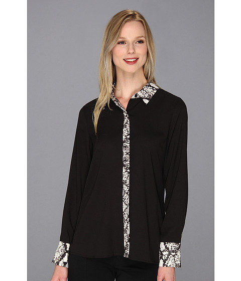 Bluze Calvin Klein - Combo Placket Blouse - Black