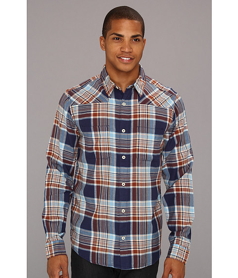 Camasi DC - Ziprin Long Sleeve Shirt - Dc Navy Plaid