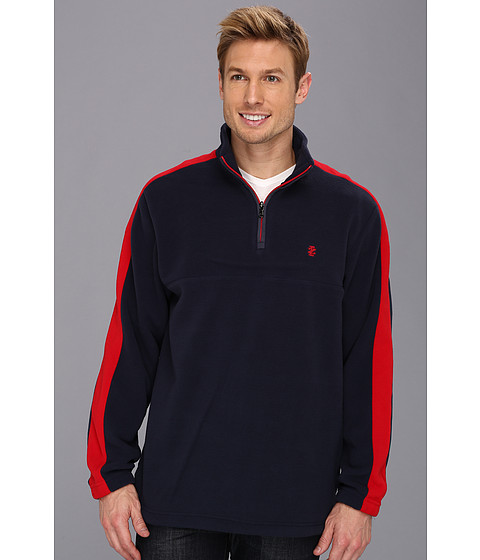 Bluze IZOD - Long Sleeve 1/4 Zip Fleece Pullover - Midnight