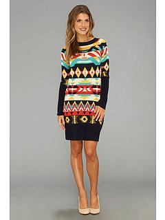 Rochii Jessica Simpson Sweater Dress JS2A4217 Peacoat Multi | mycloset.ro