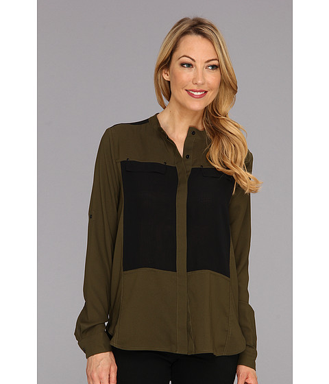 Bluze Kenneth Cole - Hilde Blouse - Forest Moss/Black