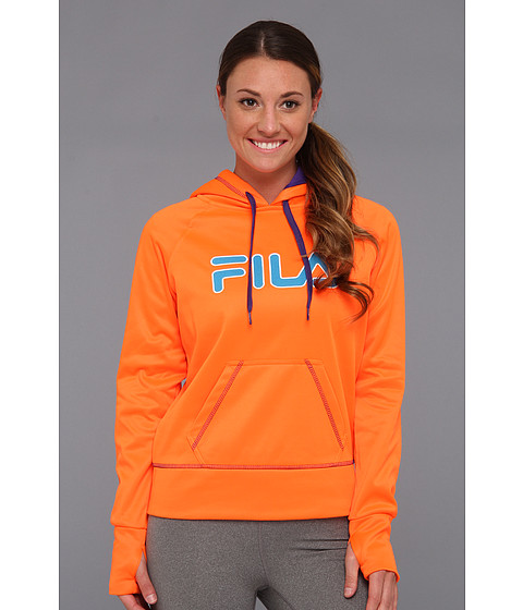 Bluze Fila - Contrast Stitched Hoody - Orange Clown Fish/Deep Blue/Ocean Blue/White