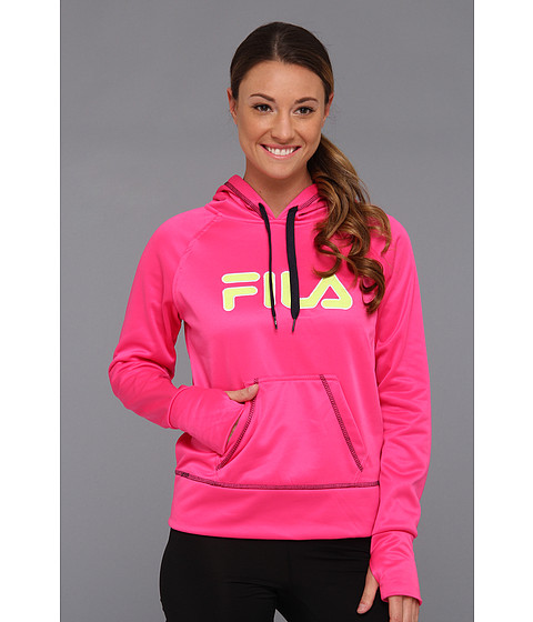 Bluze Fila - Contrast Stitched Hoody - Pink Glo/Peacoat/Safety Yellow/White