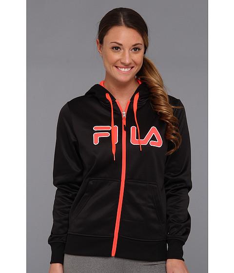 Bluze Fila - Plaited Fleece Full Zip Hoody - Black/Diva Pink/White