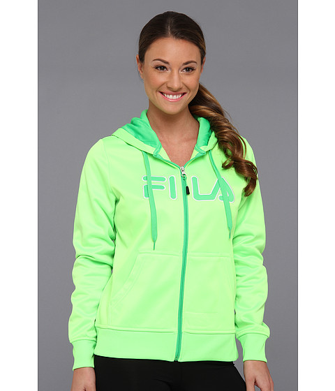 Bluze Fila - Plaited Fleece Full Zip Hoody - Green Gecko/Andean Toucan/White