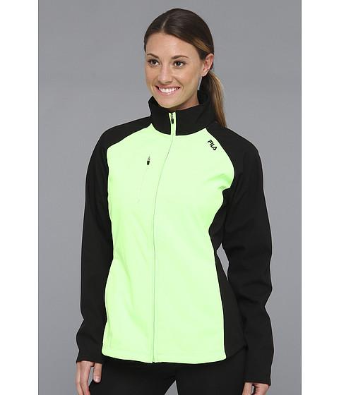 Bluze Fila - Colorblocked Bonded Jacket - Black/Green Gecko