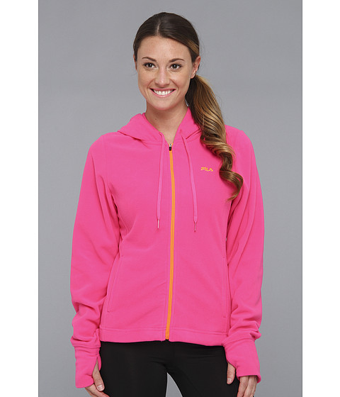 Bluze Fila - Ultra Microfleece Jacket - Pink Glo/Orange Clown Fish