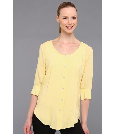 Bluze Karen Kane - 3/4 Sleeve Button Up - Yellow