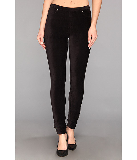 Pantaloni MICHAEL Michael Kors - Stretch Corduroy Leggings - Black/Silver