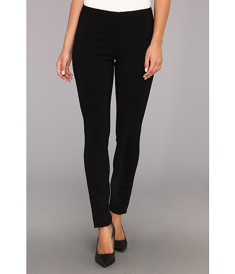 Pantaloni NIC+ZOE - The Scarlett Ponte Front Zip Pant - Black Onyx