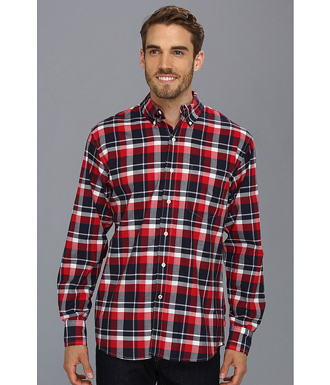 Camasi IZOD - L/S Homestead Plaid Woven - Real Red