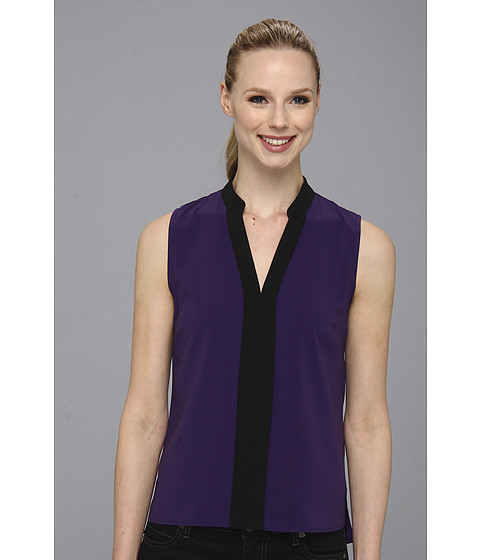 Bluze Calvin Klein - CDC V-Neck Color Block S/L - Night/Black