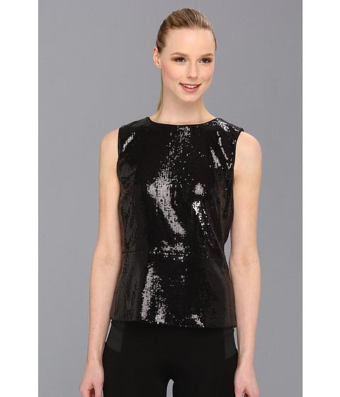 Bluze Calvin Klein - S/L Sequence Peplum Top - Black