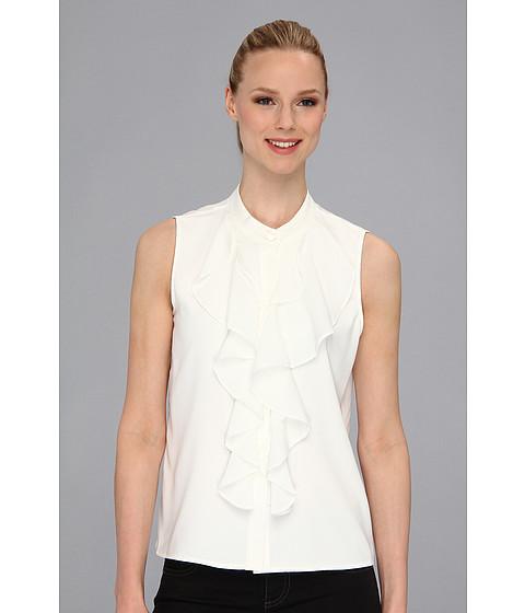Bluze Calvin Klein - Ruffle Front S/L Blouse - Eggshell