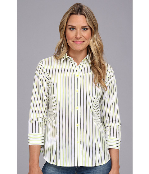 Camasi Jones New York - 3/4 Sleeve Button Front Shirt - Sorbet Combo