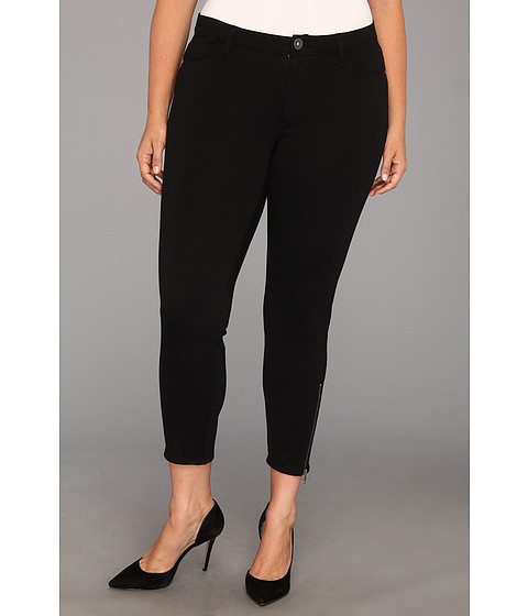 Pantaloni DKNY - Plus Size 5-Pocket Ponte Pant With Zipper - Noir