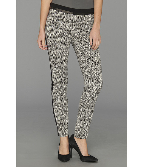 Pantaloni Rebecca Taylor - Blocked Cigarette Pant - Black/Cream