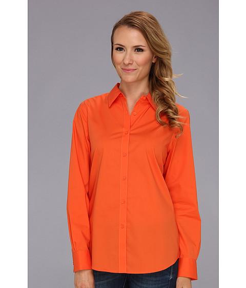 Camasi Jones New York - Basic Shirt w/ Pleats At Cuffs - Pumpkin