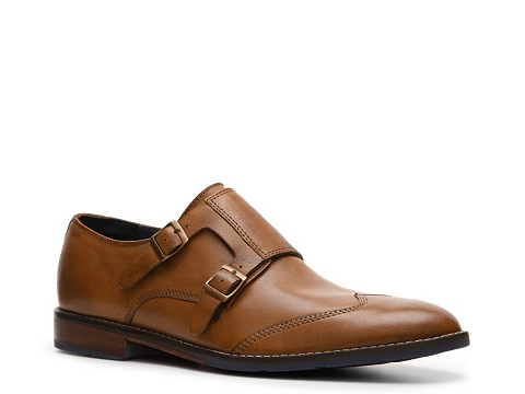 Pantofi Hush Puppies - Style Double Monk Slip-On - Tan