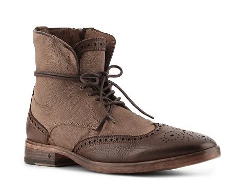 Pantofi John Varvatos - Fleetwood Spectator Wingtip Boot - Brown