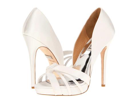 Pantofi Badgley Mischka - Cherise - White Satin