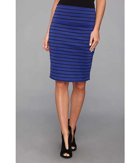 Fuste Gabriella Rocha - Striped Ponte Pencil Skirt - Royal