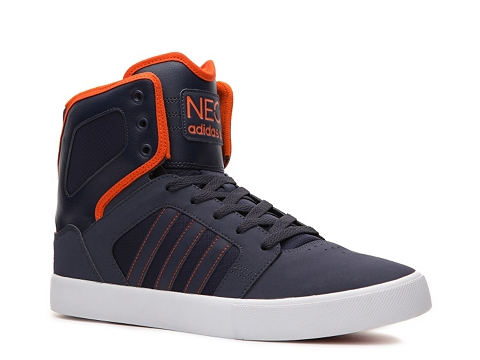 Pantofi adidas - NEO High-Top Sneaker - Mens - Navy/Orange