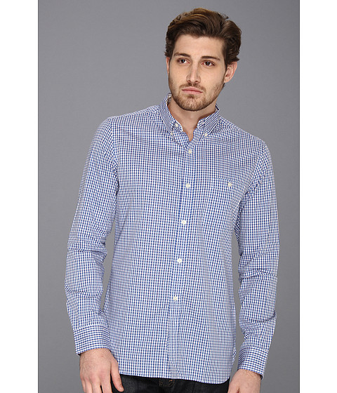Camasi French Connection - University Gingham L/S Shirt - Delft Gingham