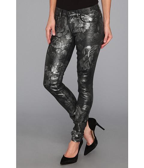 Blugi Juicy Couture - Floral Foil Skinny Jean - Black Floral Foil