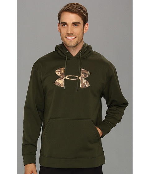 Bluze Under Armour - ArmourÃ'® Fleece Tackle Twill Storm Hoodie - Rifle Green/Realtree Ap-Xtra