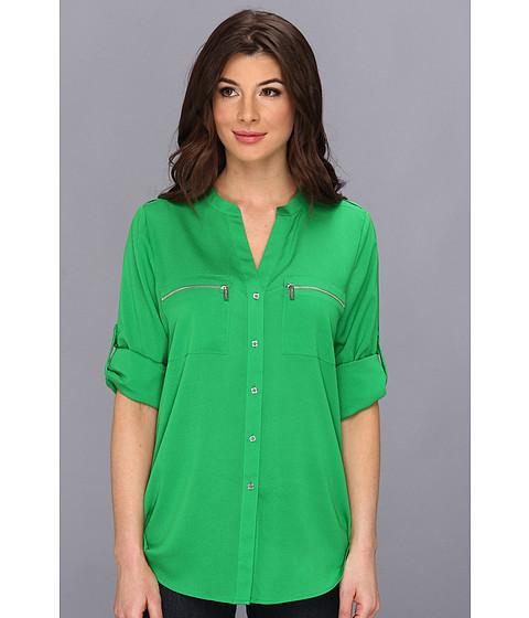 Bluze Calvin Klein - Zipper Roll Poly CDC Sleeve - Verde