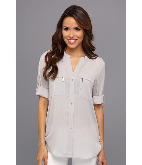 Bluze Calvin Klein - Zipper Roll Poly CDC Sleeve - Dove