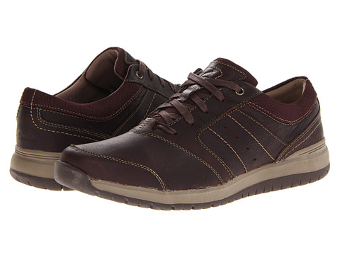 Pantofi Clarks - Reiley Trail - Dark Brown Tumbled Leather
