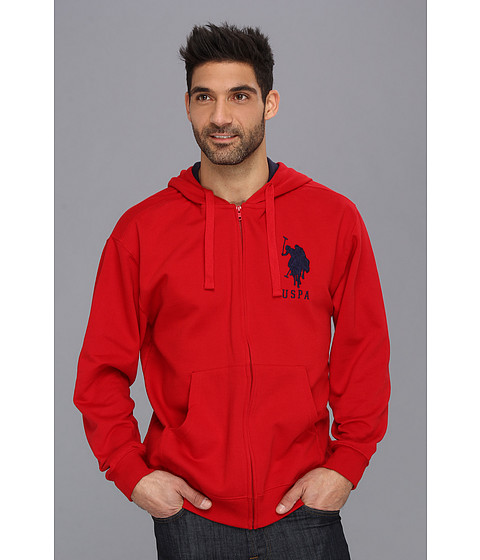 Bluze U.S. Polo Assn - Full Zip Long Sleeve Hoodie with Big Pony - Engine Red