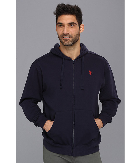 Bluze U.S. Polo Assn - Full Zip Long Sleeve Hoodie with Small Pony - Classic Navy