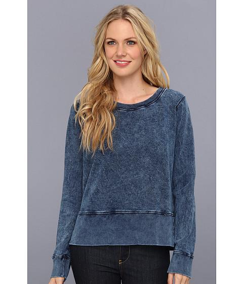Bluze Michael Stars - Long Sleeve Crew Neck Sweatshirt - Indigo
