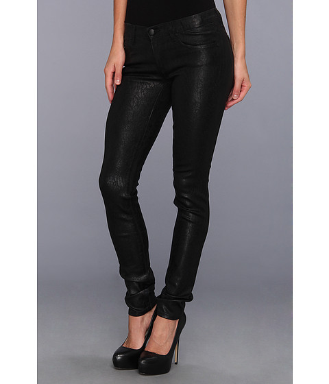 Blugi Juicy Couture - Crackle Foil Skinny Jean - Black Crackle Foil