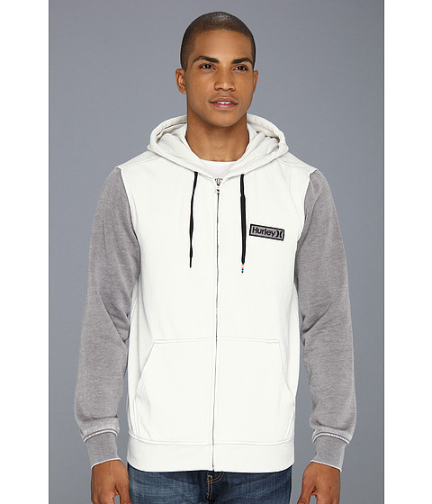 Bluze Hurley - Burnout Fleece Zip - Mineral Grey