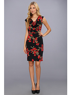 Rochii Christin Michaels Aina Dress Black/Red | mycloset.ro