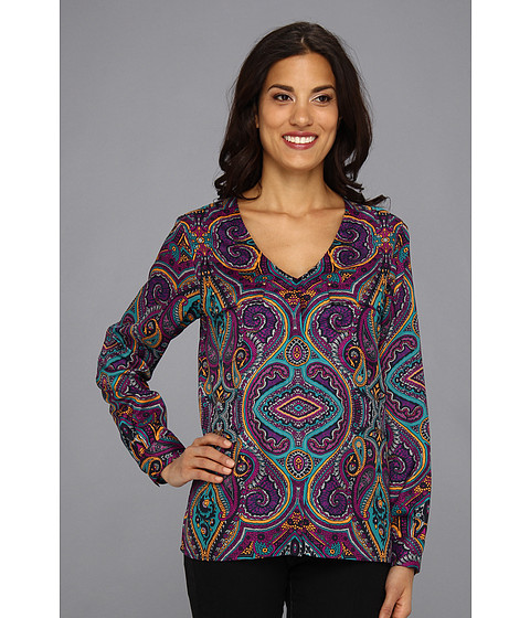 Bluze Anne Klein New York - Paisley Print Shirt 10459109 - Midnight Multi