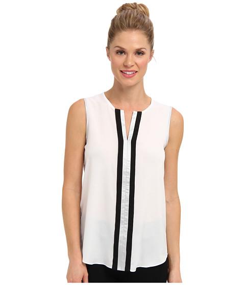 Bluze Calvin Klein - Top w/ Metallic Trim - White